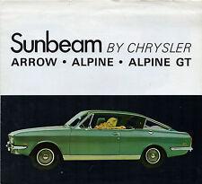 Sunbeam Arrow & Alpine 1969-70 Canadian Market Foldout Brochure Hunter Rapier
