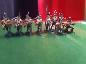 Expeditionary force  Napoleonic British Infanrty 1/32 Plastic Painted Toy...