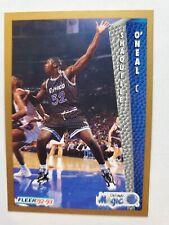 1992-93 FLEER  SHAQUILLE O'NEAL SHAQ ROOKIE CARD #37 RARE ORLANDO MAGIC