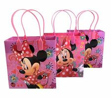 12PC Disney Minnie Mouse Goodie Bags Party Favor Supplies Gift Bags