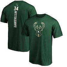 Giannis Antetokounmpo Milwaukee Bucks NBA fanáticos Verde Camiseta Camiseta De Soporte
