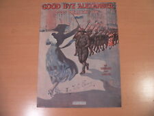 GOOD BYE ALEXANDER HONEY BOY Music Sheet-1918-PATRIOTIC/MILITARY/BLACK AMERICANA