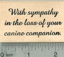 Sympathy in Pet Loss Rubber Stamp, Dog, Canine Companion H29801 WM
