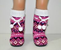 """Fits American Girl Doll Our Generation Journey 18"""" Dolls Clothes Winter Boots"""