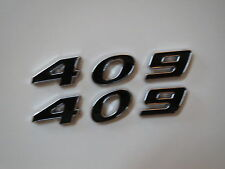 CHEVROLET 409 ENGINE ID HOOD SCOOP QUARTER TRUNK FENDER EMBLEMS - BLACK