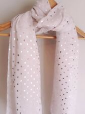 PINK FOIL SILVER METALLIC HEARTS  S/S SCARF BN