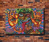 Art Psychedelic Trippy Monster Abstract -20x30 24x36in Poster - Hot Gift C2271