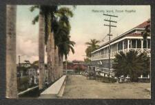 MATERNITY WARD ANCON HOSPITAL PANAMA CANAL ZONE STAMP POSTCARD (c. 1910)