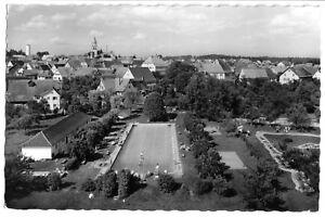 AK, Pfalzgrafenweiler, Teilansicht mit Freibad, 1964