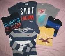 Hollister Gap Surf's Up Aeropostale Laguna Men's XL Lot of 6 shirts 22 x 27-28