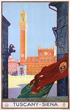VINTAGE TUSCANY ITALY ITALIAN TRAVEL A2 POSTER PRINT