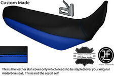 BLACK & ROYAL BLUE CUSTOM FITS YAMAHA XT 660 R 04-17 DUAL LEATHER SEAT COVER
