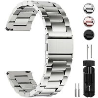 Watch Band Wrist Stainless Steel Quick Release Strap 16/18/20/22/24mm Link Belt