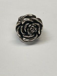 King Baby Sterling Silver Flower Ring 6.5