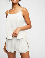 Free People Womens Move Lightly OB832839 Top Relaxed Ivory White Size XS
