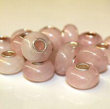Rosaquarz Rosenquarz NATUR 925 Sterling Silber Bead Beads Donut Edelsteine