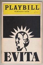 "Loni Ackerman  ""Evita""   Playbill  1982   David Cryer   Andrew Lloyd Webber"