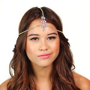 Kristin Perry Crystal Tikka Chain Headpiece