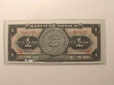 "MEXICO 1961  1 PESO AZTEC CALENDAR BANK NOTE ""CRISP UNCIRCULATED"""