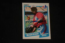 MARQUIS GRISSOM 1990 FLEER ROOKIE SIGNED AUTOGRAPHED CARD #347 EXPOS