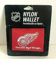 Detroit Red Wings Nylon Tri-fold Vinyl Wallet NHL Hockey Red
