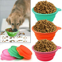 Hot Sale Dog Portable Silicone Collapsible Travel Feeding Bowl Water Dish Feeder