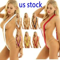 Sexy Sissy Women Micro Bikini Mini Thong Slingshot Monokini Swimwear Nightwear