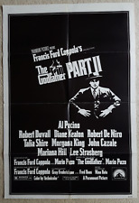 The Godfather Part Ii Original Paramount 1974 One Sheet Poster Folded-Excellent!