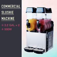 Slushie Making Machine 2 X 12l Slushy Machine Frozen Drink Smoothie Maker OTA