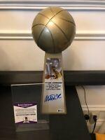 "Magic Johnson Signed L.A.Lakers 14"" Rep Championship Trophy Beckett COA"