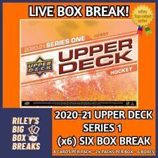 🔥🏒 2020-21 UPPER DECK SERIES 1 HALF CASE (x6) BOX BREAK #71 🔥🏒