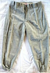 1940-50's Mitchell & Ness Vintage Wool Baseball Pant MLB COOPERSTOWN COLLECTION
