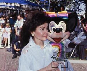 Disneyland 1986 PHOTO Captain EO Premiere Annette Funicello Color Slide Disney