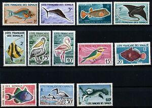 Französisch Somalia postfrisch Fische Vögel Michel Nr. 320 - 331