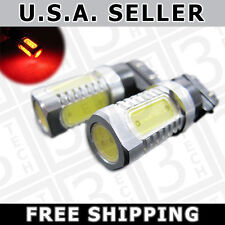 2x RED 3156 3157 3057 7.5W PLASMA LED Light Bulbs Back Up Reverse Signal Brake
