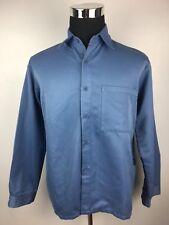 E14 Kathmandu Blue Medium 100% Polyester Long Sleeve Button Up Shirt