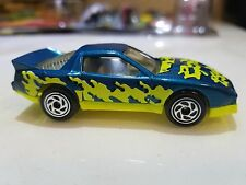Matchbox 85 Pontiac Firebird Trans Am Racer Blue with Yellow Graphics 1/64 Scale