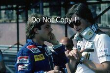 Keke Rosberg & Frank Dernie Williams F1 Portrait Monaco GP 1982 Photograph