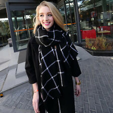 Winter Women Tartan Checked Large Scarf Shawl Plaid Pashmina Stole Warm Scarves