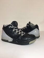 Air Jordan Flight Origin Gs Youth Sz 5.5Y 705160 005 Black Gray Lace Up Hi Tops