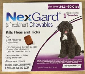 NexGard Chew Kills Fleas and Ticks for Dogs  24.1- 60 Pounds 6 Months Worth