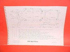1970 BUICK ELECTRA 225 LESABRE CONVERTIBLE WILDCAT HARDTOP FRAME DIMENSION CHART
