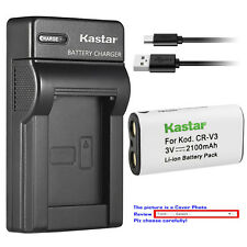 Kastar Battery Slim Charger for Pentax CR-V3 & DigiBino 100 Optio 230 Optio 30