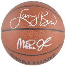 Larry Bird NBA Boston Celtics & Magic Johnson Lakers Signed Spalding Basketball