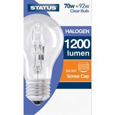 1, 2, 4, 6 or 10  Eco Halogen GLS Clear Screw In ES Light Bulbs 70w=92w NEW