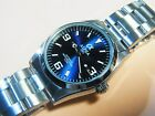 ALPHA EXPLORER IRON BLUE DIAL 21 JEWELS AUTOMATIC WATCH WITH SAPPHIER CRYSTAL
