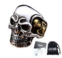 Anello Teschio Skull Uomo Acciaio Donna Argento Oro Incisioni Personalizzate