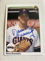 Dave Dravecky Signed 1990 Upperdeck San Francisco Giants Card # 679