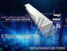 Flush Mount 4 ft Hardwired Wraparound Fixture 2x LED T8 6500k 48w 6000 lumens!!