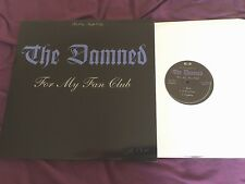 The Damned – For My Fan Club RARE LP near mint!